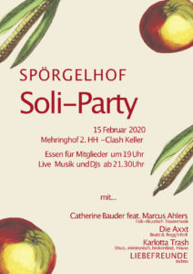 Flyer Soli-Party 15. Februar 2020